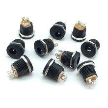 100 個 DC 022 5.5 2.1 5.5 × 2.1 ミリメートルの Dc 電源ソケット DC コネクタパネル取付 DC022
