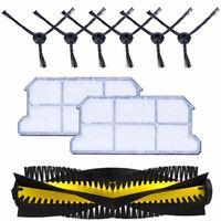 1x main brush+6x side brush+2x dust hepa filter kit for chuwi ilife v7 v7s v7s pro Robotic Vacuum Cleaner parts