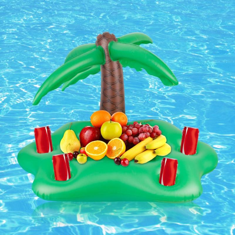 Floating Bar Tray Swimming Pool Inflatable Floating Bar Tray Bracket Beach Accessories Swim Ring Pool Toys Sun Umbrella