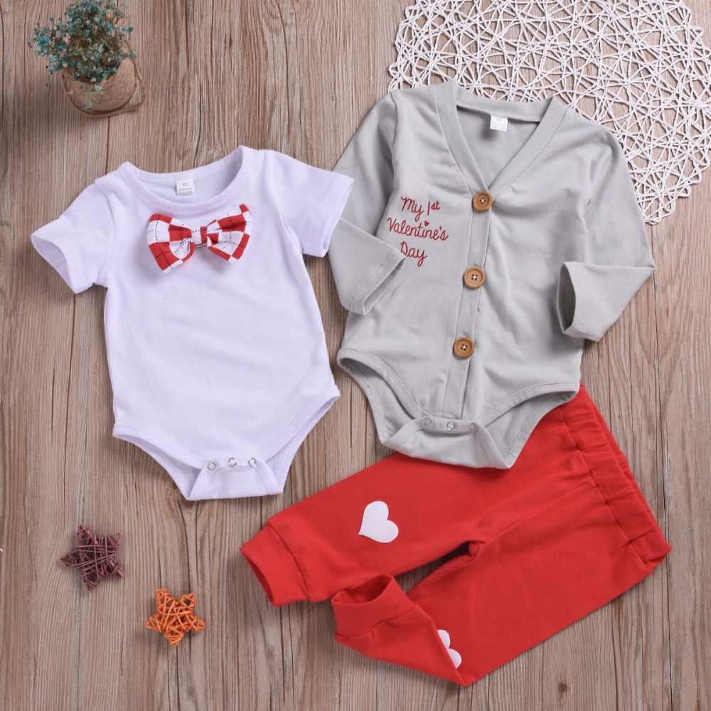 ae6e3263 ... New Valentine baby clothing sets 3pcs boy clothes set bow tie shirt  Coat pants infant baby ...