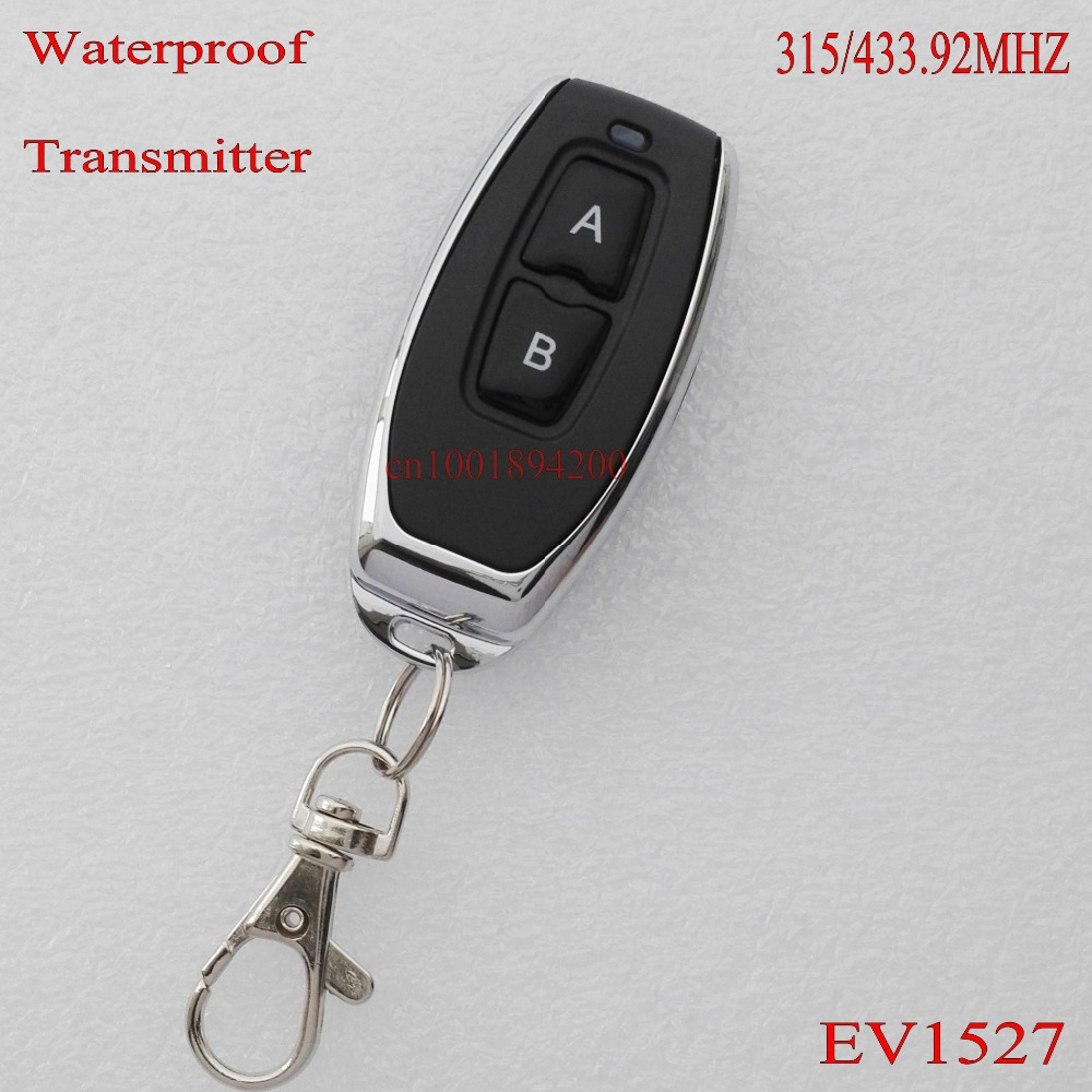 RF Remote Control Transmitter 315/433MHZ 1527 IC Chip Top Grade Upscale Metal Remote TX AB Lock Unlock Big Button Black 2 button-in Switches from ...