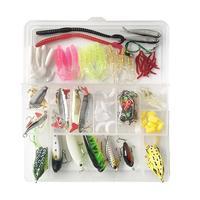 110pcs Sequins Fishing Lures Set Spoon Hooks Fish Bait Swivel Ring Kit Box