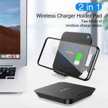 RAXFLY 2 in 1 Qi Fase Wireless Charger For iPhone X XS 8 Huawei P30 Pro 10W Charging Samsung S9 S10 Plus Holder