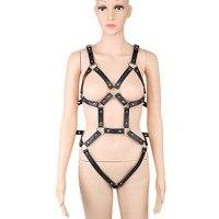 Sexy Body Harness Full Hrajuku Bondage Harnes Bra Full Set Of Bdsm Clothing Sexual Women Bodysuit Harness Set Fetish Costumes