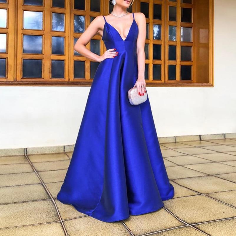 Blau sexy strumpf lange sommer kleid frauen kleidung vestidos kleider mode kleider jurken robe femme elegante lose backless