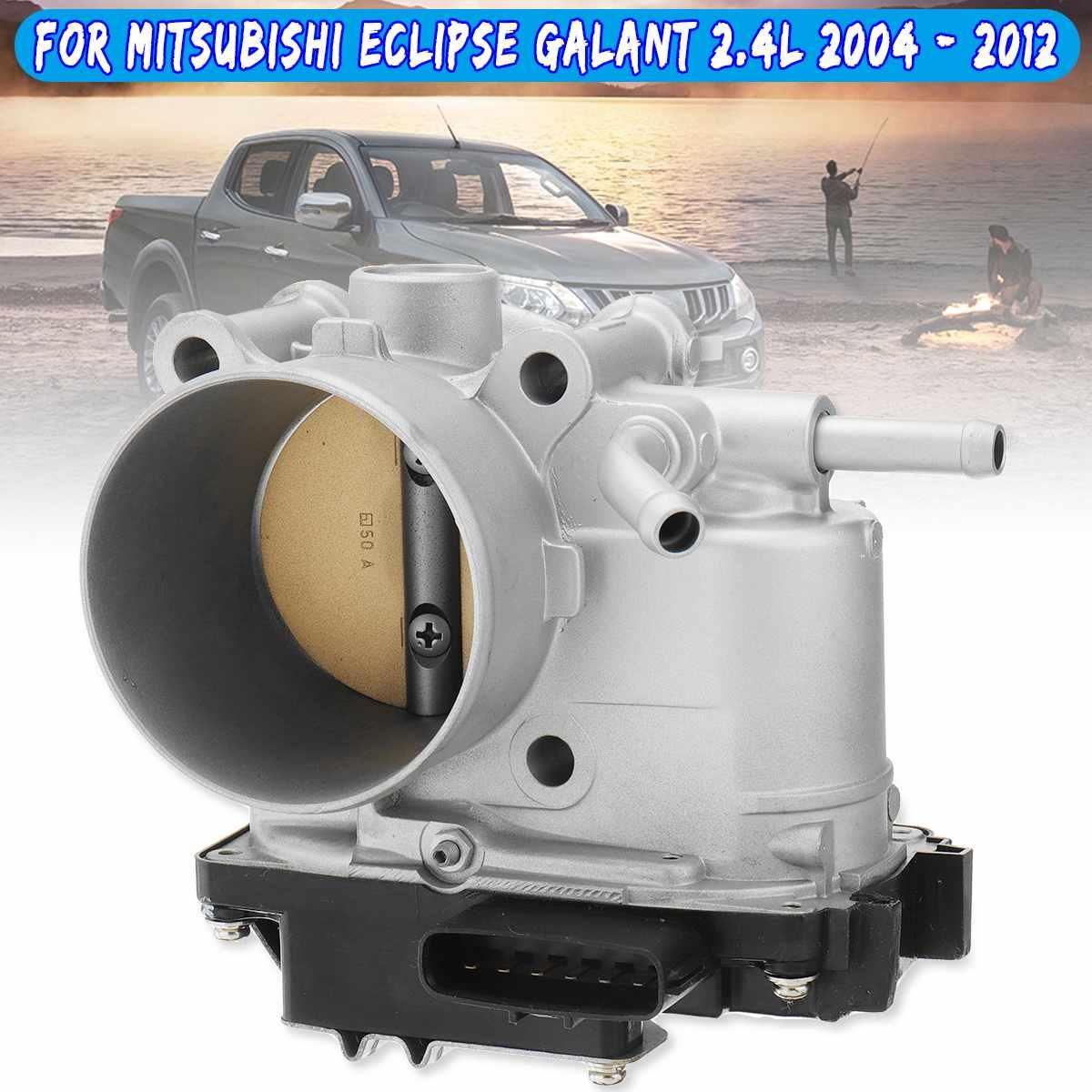 Valve de corps d'accélérateur MN135985 adaptée pour Mitsubishi Eclipse Galant 2.4L 2004-2012 pièces de rechange automatiques en métal argenté