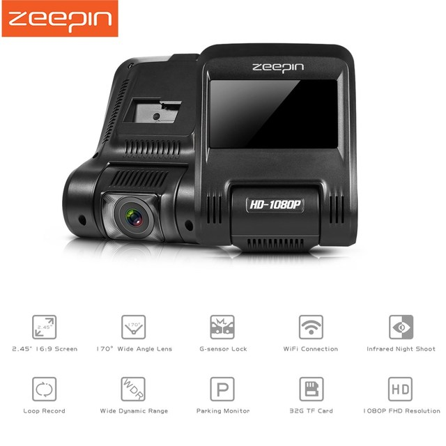 Big Promotion ZEEPIN Car Dash Cam 2.45 Inch 1080P 170 Degree DVR Infrared Night Shoot Wifi G-Sensor Drive Recorder Camera