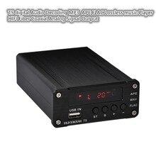 Reproductor de música digital ZHILAI T5, decodificador de Audio sin pérdidas, salida de señal Coaxial de fibra HIFI analógico, compatible con APE FLAC ANSI MP3 Play