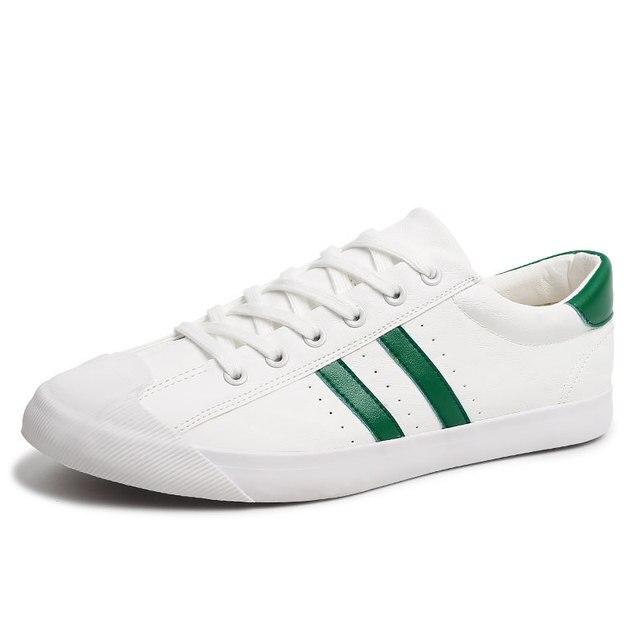 a317efc0f Homens Sapatos Baixos Dos Homens Pu de Couro Casual Lace Up Sapato Bordo  Branco Preto Tênis