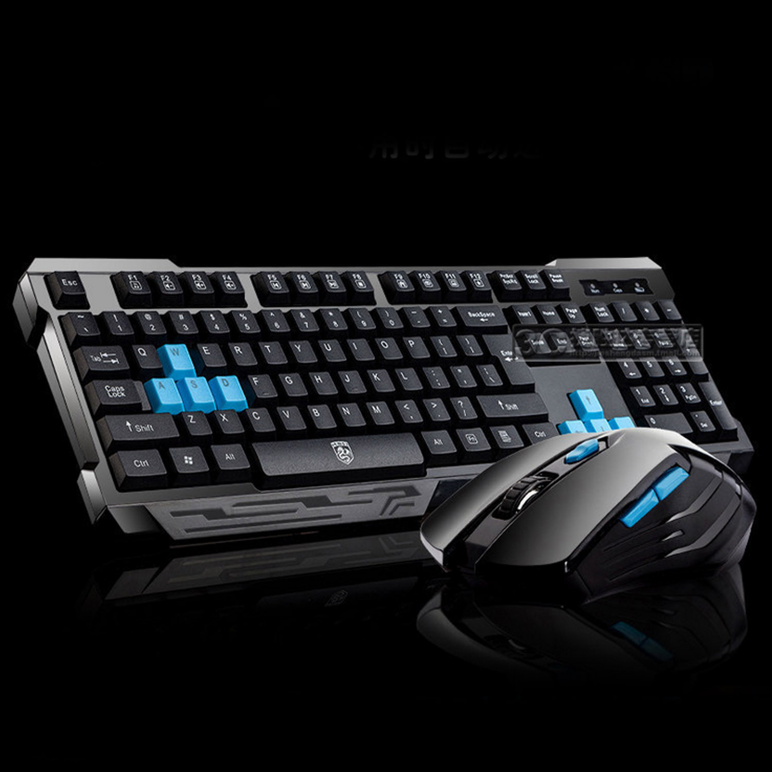 Elisona Gaming 2.4G Wireless Computer Laptop PC Keyboard Key Board Mouse Set for Computer Gamer Overwatch Dota Lol CS GO Supply