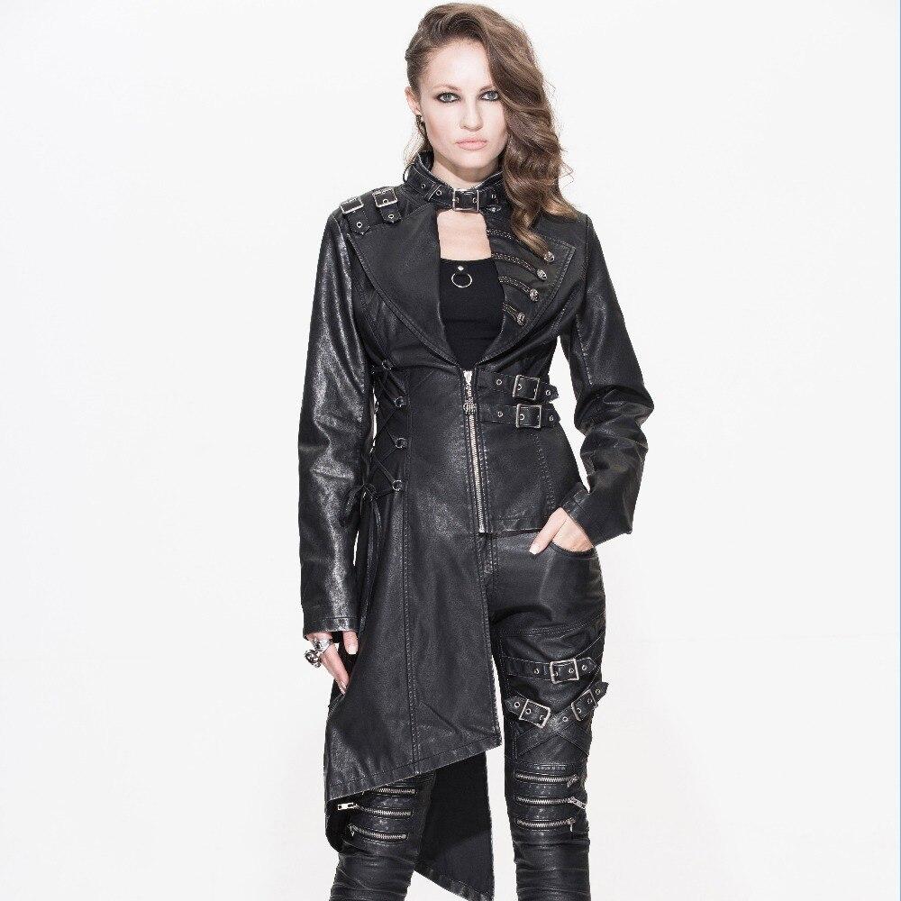 Devil Fashion Heavy Punk seksi asimetrične jakne od umjetne kože za - Ženska odjeća - Foto 1