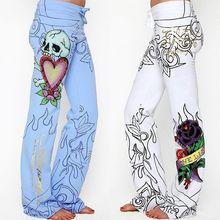 Новейший стиль Новые модные брендовые сексуальные женские повседневные с цветочным принтом сексуальные женские широкие брюки размера плюс S-5XL