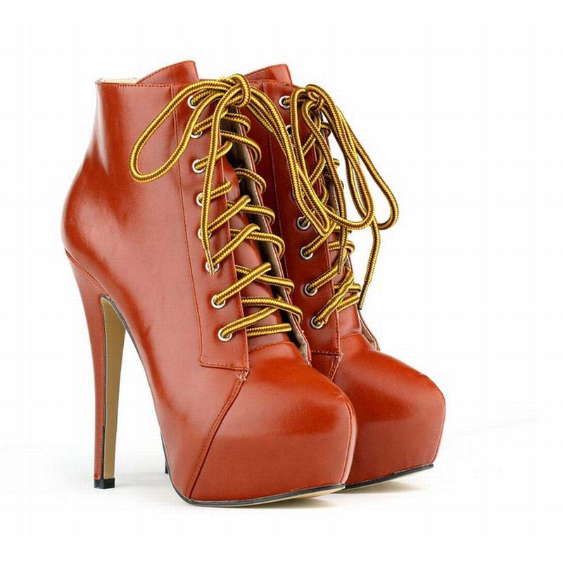 a995a287448a9 2016 women ultra high thin heels ankle strap booties vintage platform  female lace up high heeled shoes party wedding boots 35-42