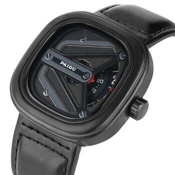 Relogio Masculino Special Case Quartz Watch Movement for Men Women High-tech Sense Analog Wrist Watches Leather Band Sport Watch