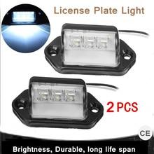 2 шт 12/24 V Водонепроницаемый 3 Led задний высокий лицензии подсветка номерного знака Лампа прицеп прочный