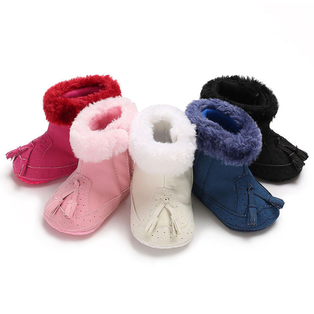 2019 0-12M Tassel warm Baby Girl Boy boots Snow Boots Winter Warm Booties Infant Toddler Newborn Crib Shoes Fashion Style