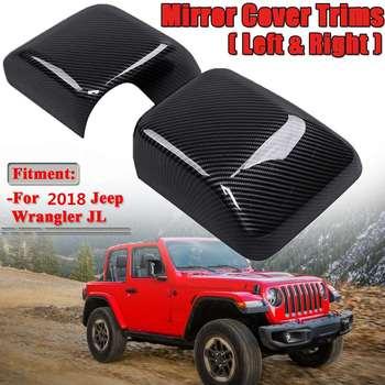New MỘT Cặp Carbon Fiber Look Xe Side Wing Gương Chiếu Hậu Bìa Mũ Trim 20118 Cho Jeep Wrangler JL gương chiếu hậu Bìa