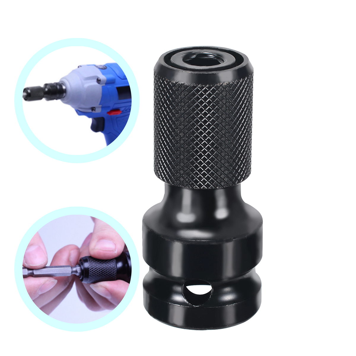 1/2'' Square To 1/4'' Hex Shank Socket Adapter Quicker Release Converter For Impact Wrench Length 5cm Mayitr
