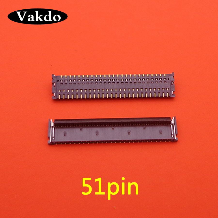10pcs/lot for iPad 3 <font><b>4</b></font> ipad3 ipad4 A1416 A1430 A1458 A1460 LCD display screen FPC <font><b>connector</b></font> 51 PIN logic on motherboard 51pin image