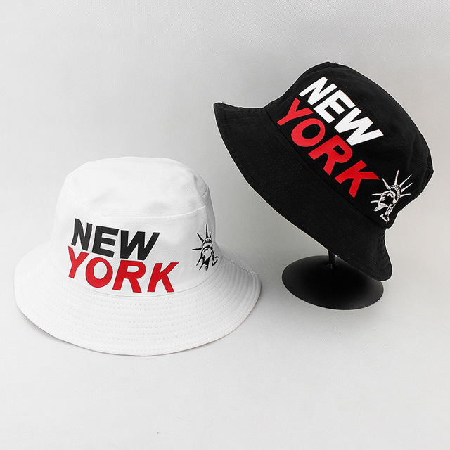 f2f435db27d940 NEWYORK Black White Hat Outdoor Bucket Hat for Male and Female Safari Bonnet