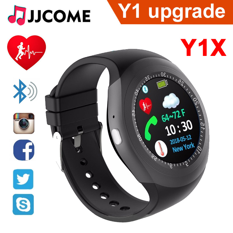 Y1X Bluetooth Smart Watch Y1 Upgrade Sim Card TF Heart rate Monitor Sport Wristband For Xiaomi Band Android Men Women Smartwatch meanit m5