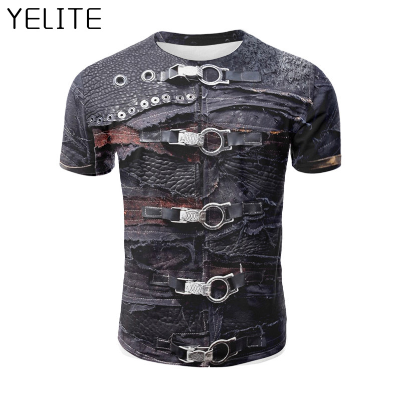 YELITE Newest T Shirt Hip-hop TShirt Warrior T-shirt 3D Printed 2019 Pullover Summer Short Sleeve Fashion Ancient Rome Homme Tee