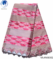 BEAUTIFICAL tulle lace fabric french net fabric with lace embroidery wholesales african fabric lace ML4N683