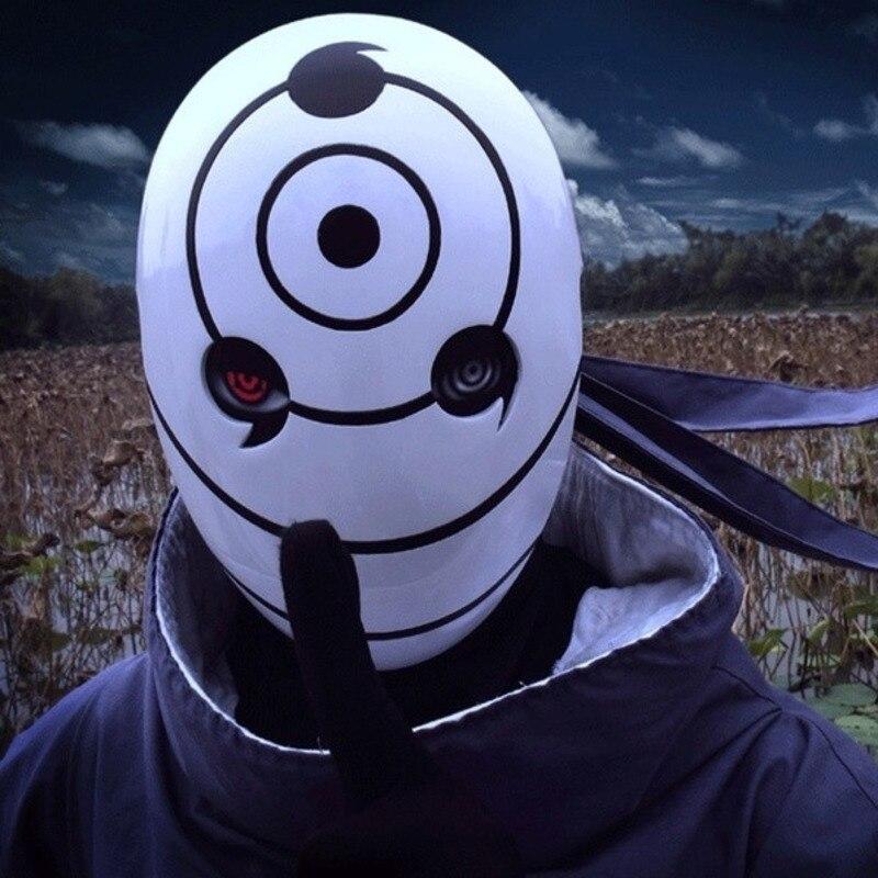 Halloween Party Cosplay Naruto Obito Anime Masks Tobi Mask Uchiha Cosplay Costume Movie Prop Replica