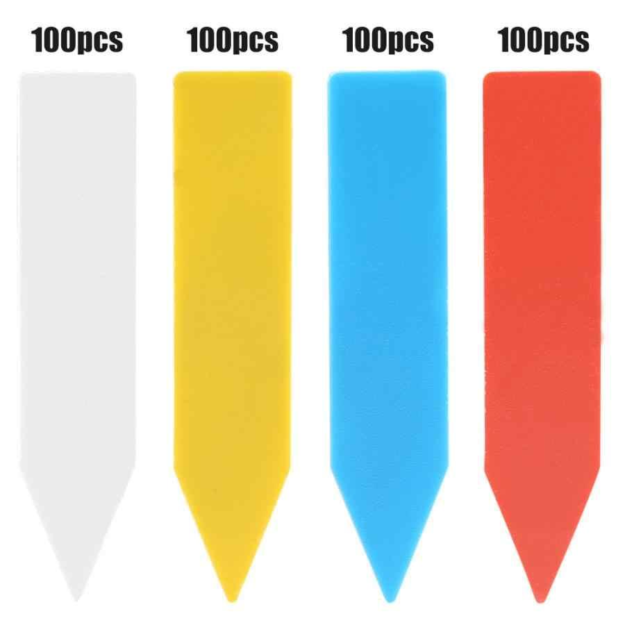 100 قطعة * 5 سنتيمتر النباتات تسميات داخلي بونساي اسم العلامة البلاستيك متعدد الألوان حصة من نوع رياض الأطفال زهرة وعاء النباتات حديقة الحلي