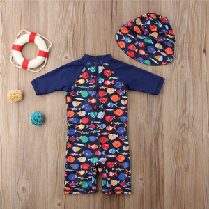 Boys Swimwear Cute Kids Baby Swimsuit with Cartoon Pattern Toddler Boy Bathing Suit One Pieces Swim Wear for Children(China)