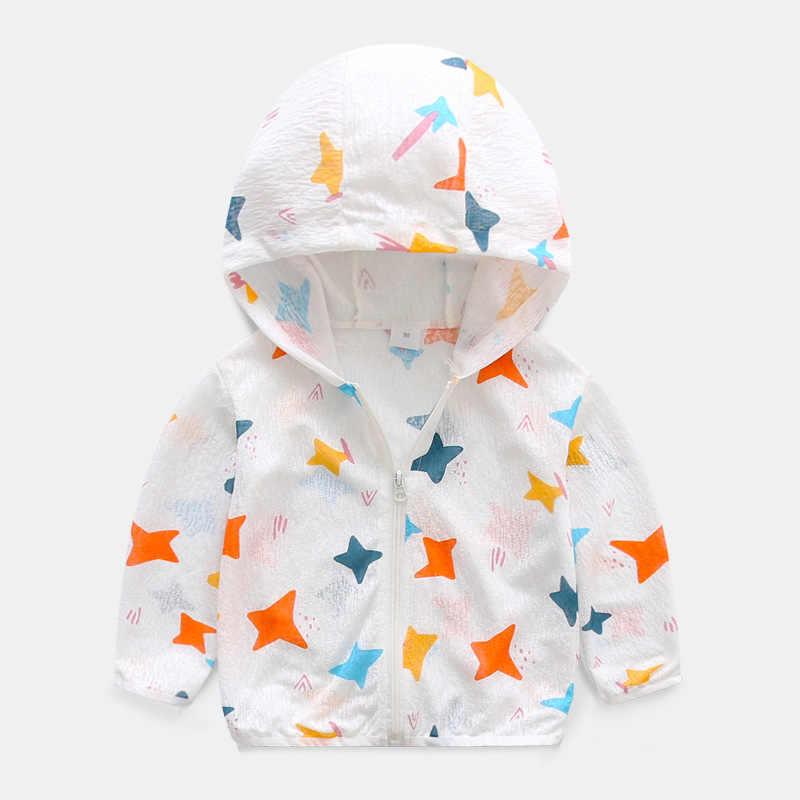 Benemaker/Детские летние куртки для девочек и мальчиков с принтом; Верхняя одежда для детей; спортивные пальто с защитой от солнца; детская верхняя одежда; YJ076