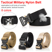 Nylon belt practical strong casual men buckle training outdoor climbing camouflage multi - color