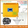 Repetidor de señal celular TianLuan 3G 2100 MHz 2G 900 MHz amplificador de señal móvil W-CDMA UMTS GSM señal de teléfono móvil amplificador conjunto completo