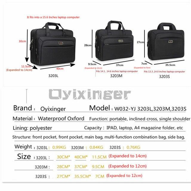 "Large Capacity Men Single Shoulder Bag 14"" 15"" 16 Inches Travel Bag Men's casual fashion Handbags Business Briefcase Laptop Bag 4"