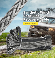 10mm x 30m Synthetic Winch Rope Line Recovery Cable Towing Ropes