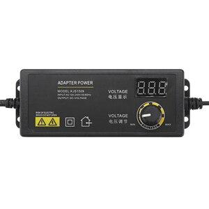 Image 2 - LEORY Универсальный светодиодный адаптер питания, 3 24 В, 1,5 А, с регулируемым напряжением, вилка стандарта ЕС и США