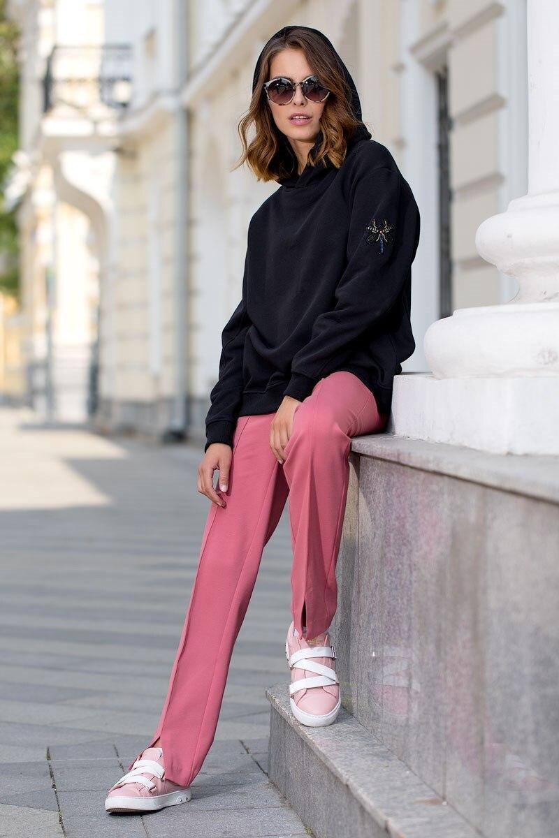 Sweatshirt 4702300-02 flower print pullover sweatshirt