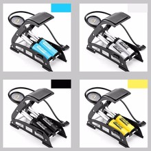 145Psi High Pressure Tire Air Inflatable Pump Foot Inflator With Gauge For Car Vehicle Motorcycle Inflator Mountain Bike