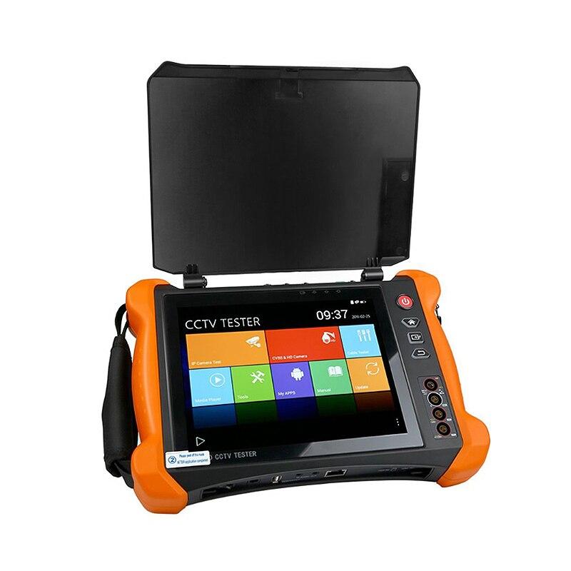 Moniteur d'appareil de contrôle de télévision en circuit fermé de sécurité d'appareil de contrôle d'appareil-photo d'ip de 8 pouces avec le X9-Movtadh d'entrée et sortie de Sdi/Tvi/Tvi/Ahd/Cvi/multimètre/Tdr/Opm/Vfl/Poe/4 K/Hdmi