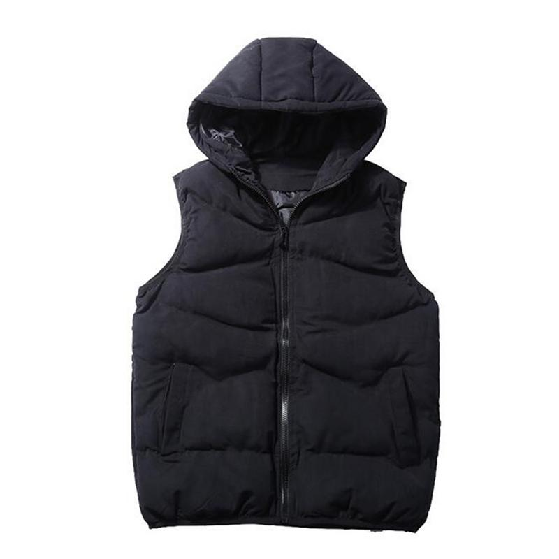 0a226e52b00bf 2018 New Spring Autumn Sleeveless Jacket for Men Fashion Warm Hooded Male  Winter Vest Light Plus