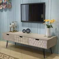 VidaXL ТВ шкаф с 3 ящиками 120x40x36 см серый подставки легко собрать дома хранения стильный мебель для гостиной 243399