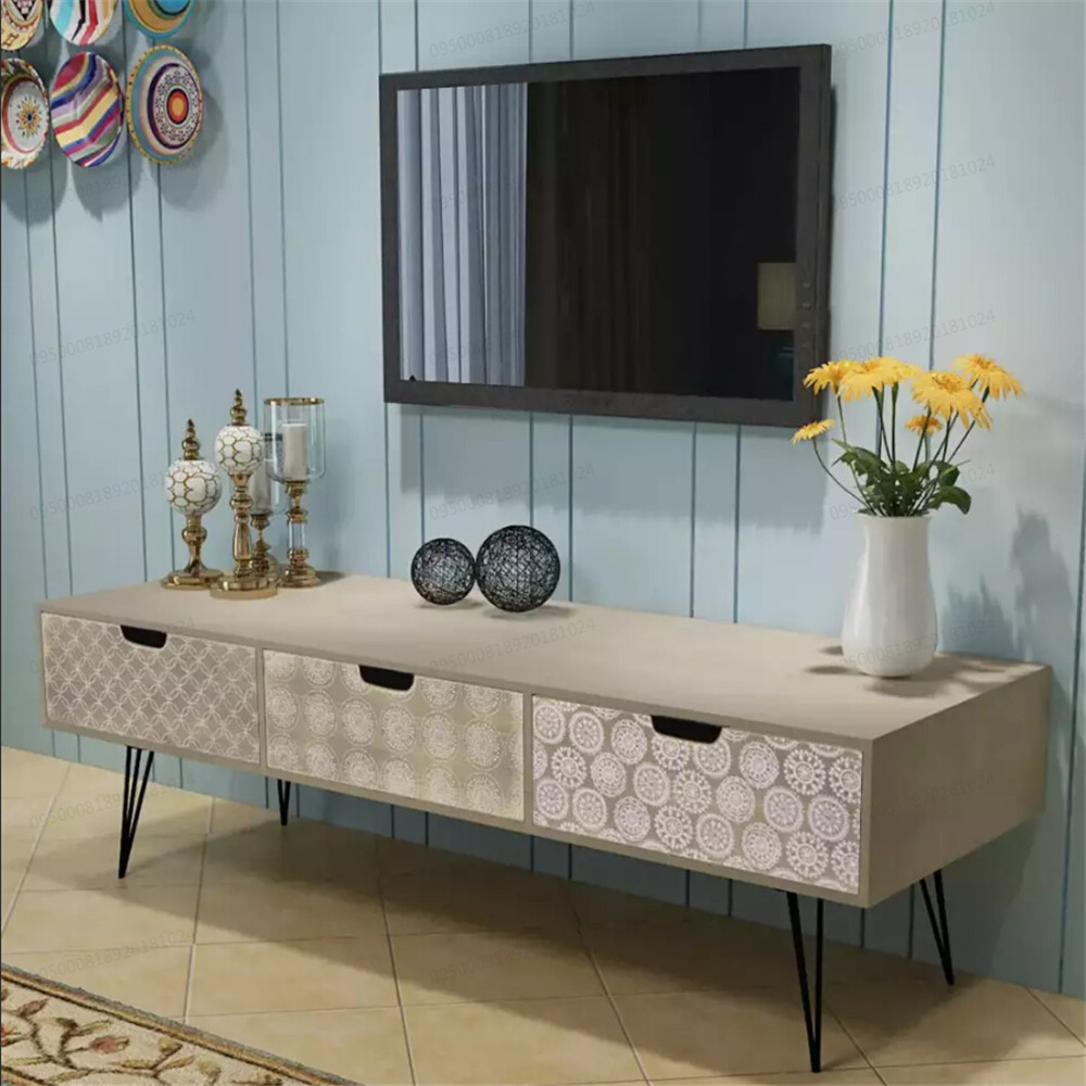 VidaXL TV Cabinet With 3 Drawers 120x40x36 Cm Grey TV Stands Easy To Assemble Home Storage Stylish Living Room Furniture 243399