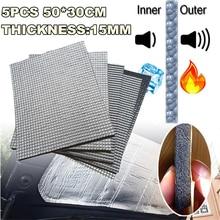 5pcs/lot  15mm 30*50cm Sound Deadener Heat,Self-Adhesive Car Firewall Ceiling Door Hood Floors Trunk