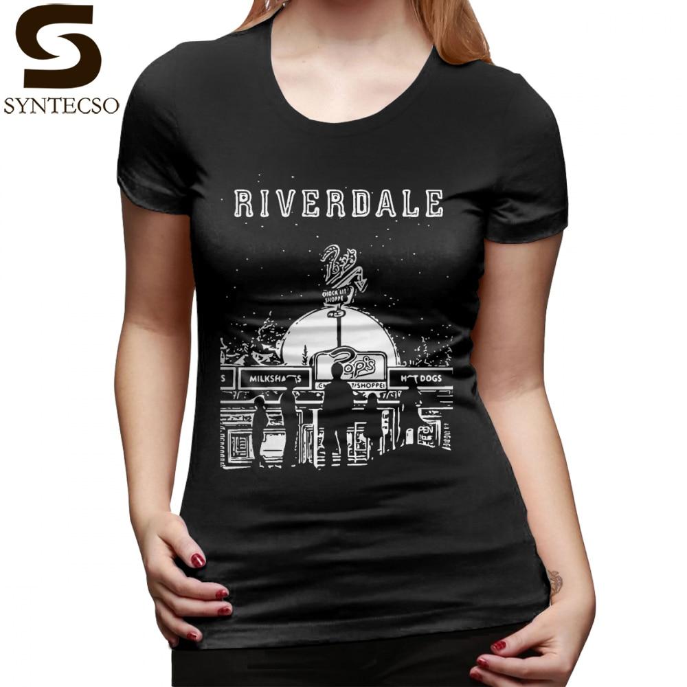 Enthousiast Hamburger Shirt T-shirt Riverdale Zwart En Wit Pop Chock Lit Shoppe T Shirt Zwart Casual Vrouwen T-shirt Dames Tee Shirt Bevorder De Productie Van Lichaamsvloeistof En Speeksel