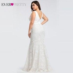 Image 2 - Ever pretty vestidos de casamento, corset de renda sereia design simples elegante para casamento 2020 mariee