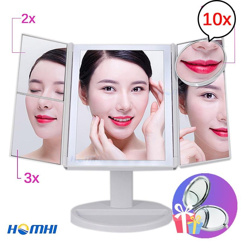 Vanity lights led shine light hollywood mirror for make up desk wardrobe mirror with illumination fixtures glass dressing mirror
