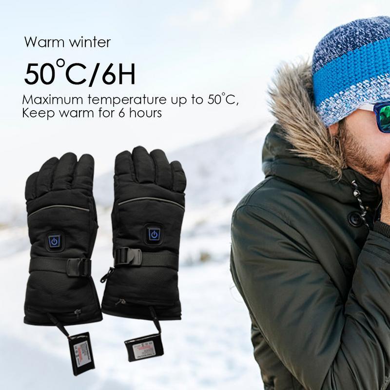Drei-Weg Schalter Elektrische Beheizte Handschuhe Fünf-Finger Beheizte Handschuhe Warme Winter Handschuhe Für Männer & Frauen Outdoor zubehör