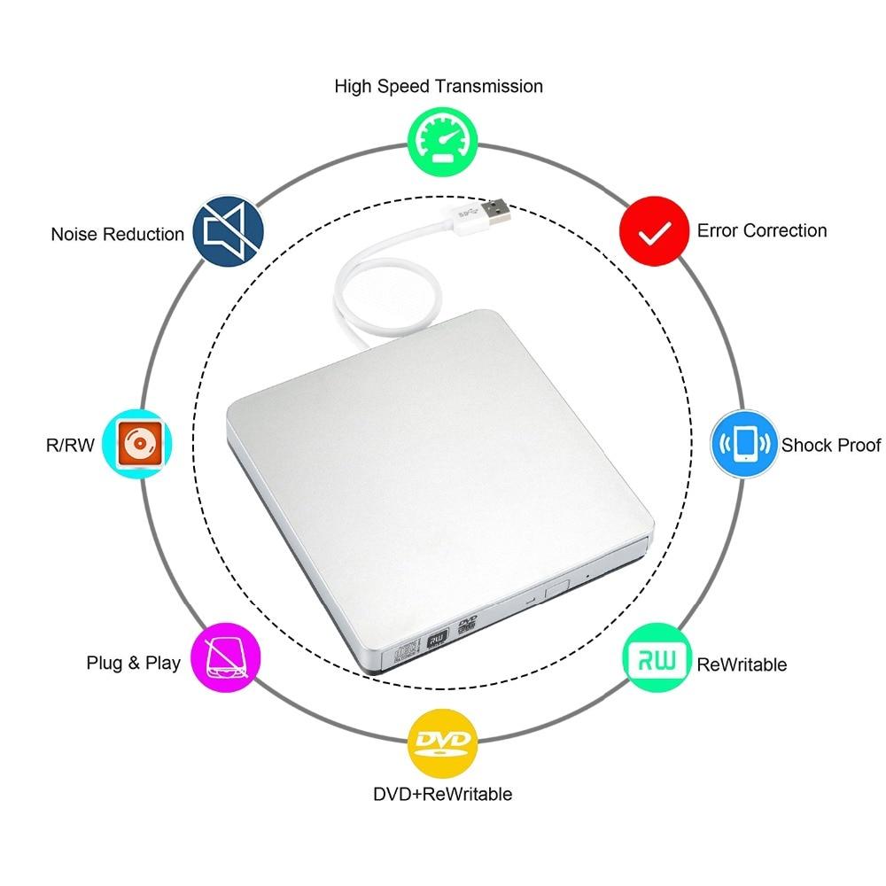 USB 2.0 Grabadora de DVD-RW Reproductor de DVD externo CD / DVD ROM - Componentes informáticos - foto 5
