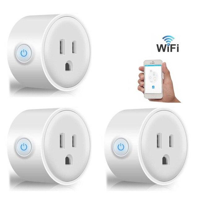 3X Mini Thông Minh Wifi Cắm Ổ Cắm Công Tắc làm việc với Echo Alexa Google Nhà Từ Xa Phích Cắm US