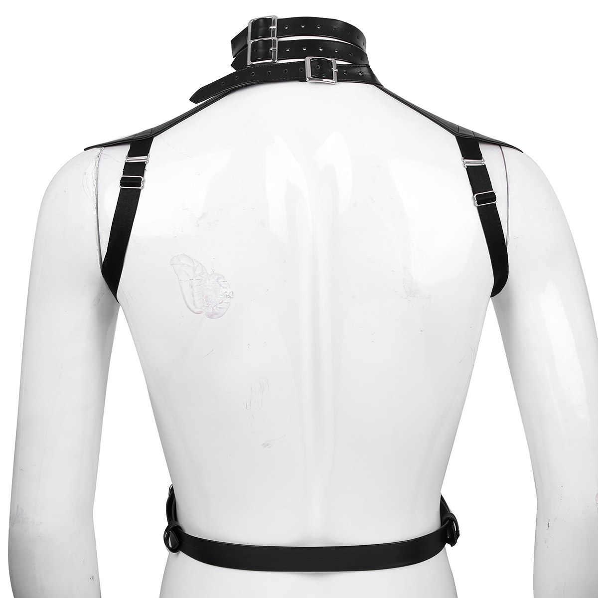 Для мужчин s жгут искусственная кожа жгут для мужчин БДСМ бондаж гей Arnes Hombre регулируемые пряжки нагрудный ремень для тела ремень необычный костюм